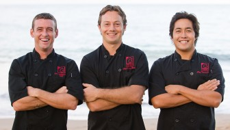 Chefs Cody, Jaron and Travis at Three's Bar and Grill