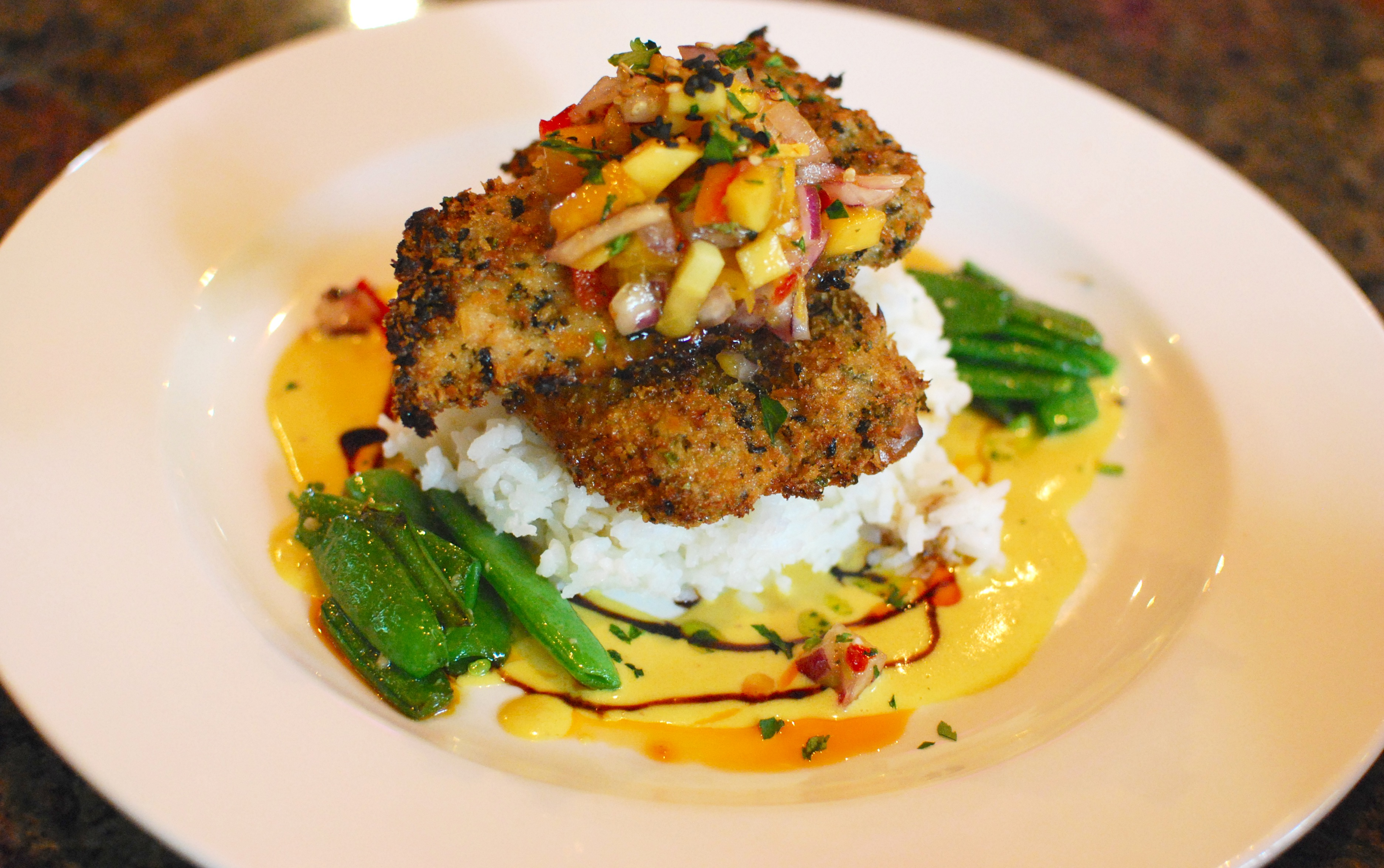 crusted chicken breasts Macadamia nut