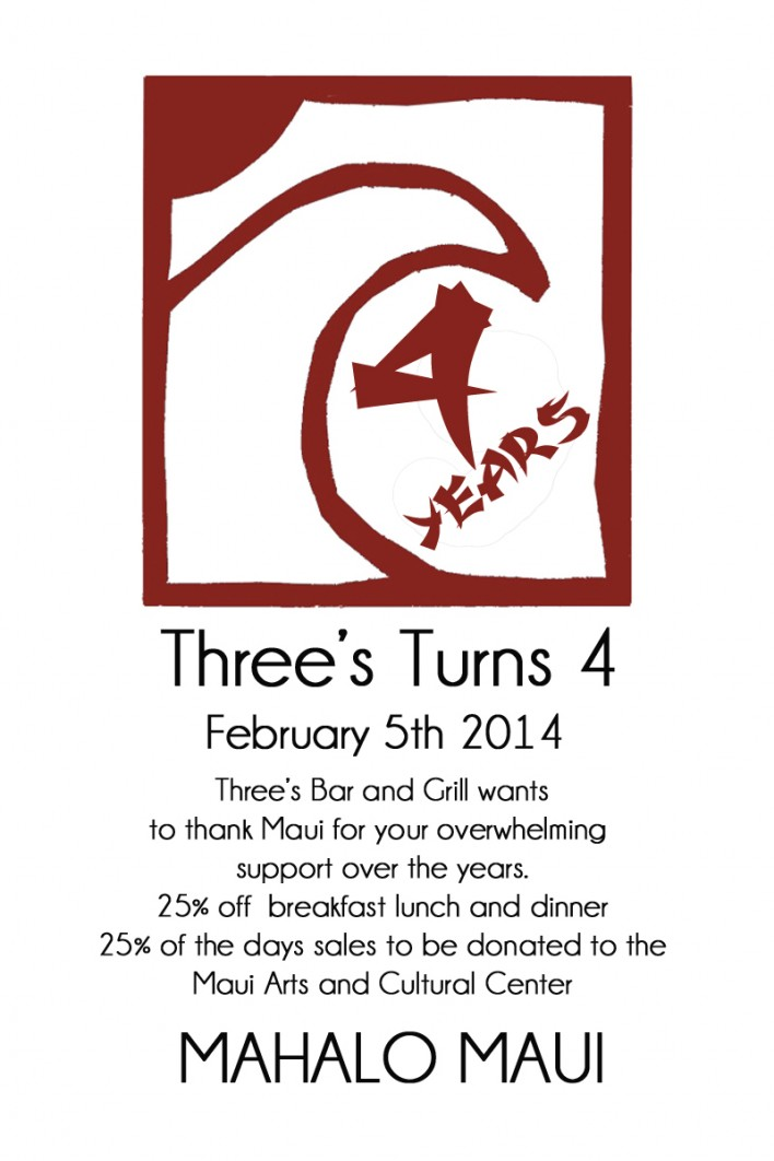 Three's 4 Year Anniversary