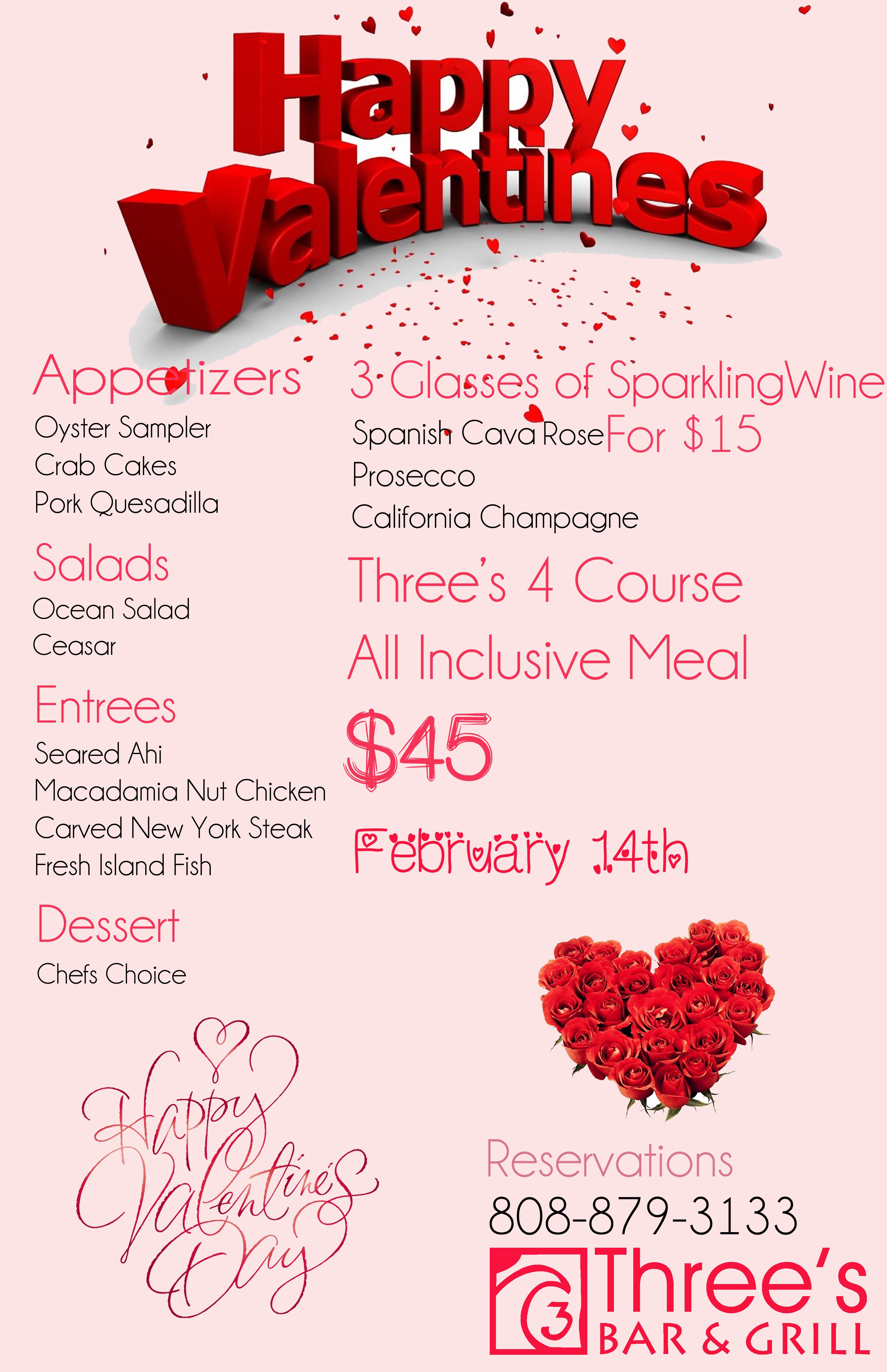 Valentines day menu for Valentines dinner party menu