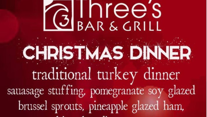 Christmas Dinner at Three's