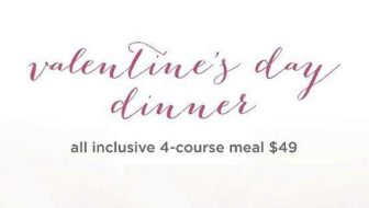 Valentine's Day Dinner at Three's Bar and Grill